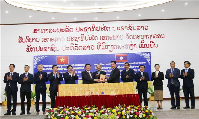 Three volumes of Ho Chi Minh's Complete Works in Lao introduced