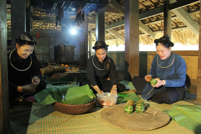 Tet atmosphere at Vietnam National Village for Ethnic Culture and Tourism