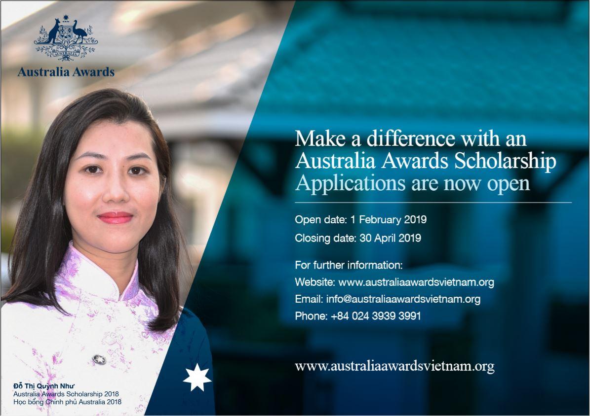 Australia Awards Scholarships opportunities available for Vietnam