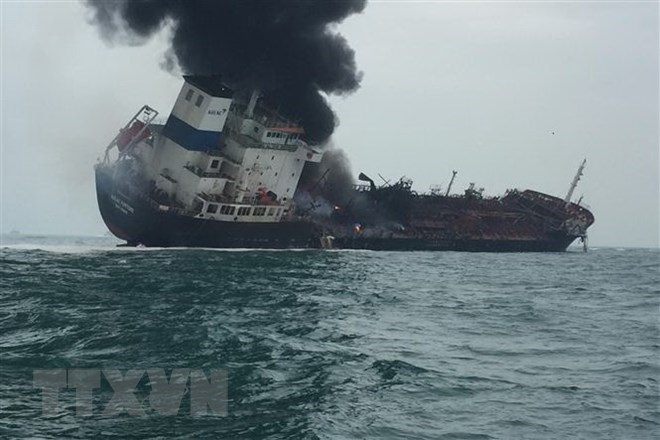 One dead, two missing in Vietnamese oil tanker fire off Hong Kong