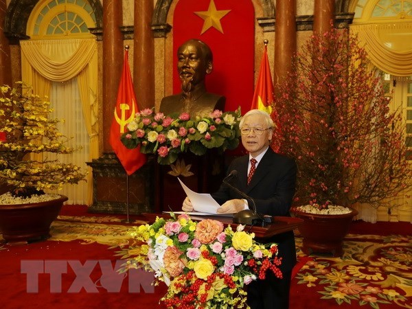 Party, State leader extends greetings on Year of Pig