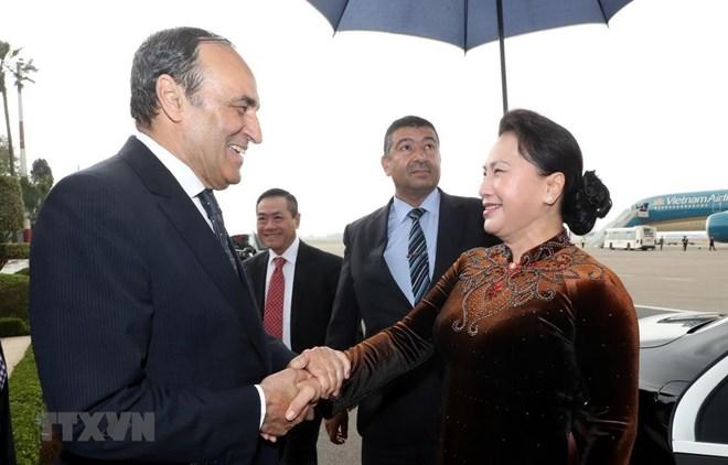 Top legislator wraps up Morocco visit, heads to France for official visit