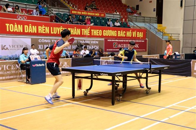Int'l table-tennis tourney kicks off in Hai Duong