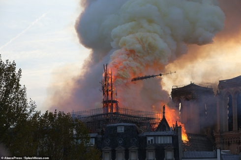 Notre Dame Cathedral catches fire in Paris