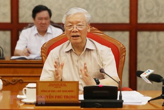 Party leader, President presides over Political Bureau's meeting