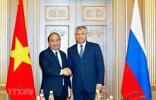 PM meets Russian State Duma Chairman