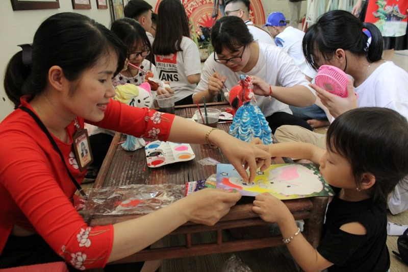 Activities related to children's summer at Vietnam National Village for Ethnic Culture and Tourism