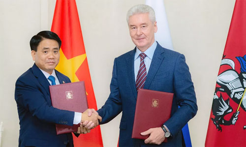 Vietnamese and Russian capital cities sign cooperation deal