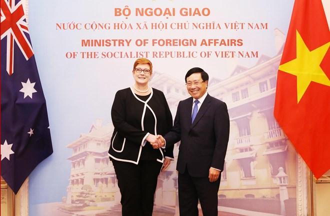 Vietnamese, Australian Foreign Ministers hold talks