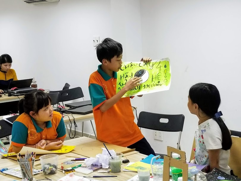 Around 140 children and adolescents in Ho Chi Minh City participate in a product design programme
