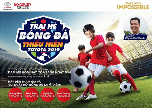 Toyota Vietnam launches football camp for kids