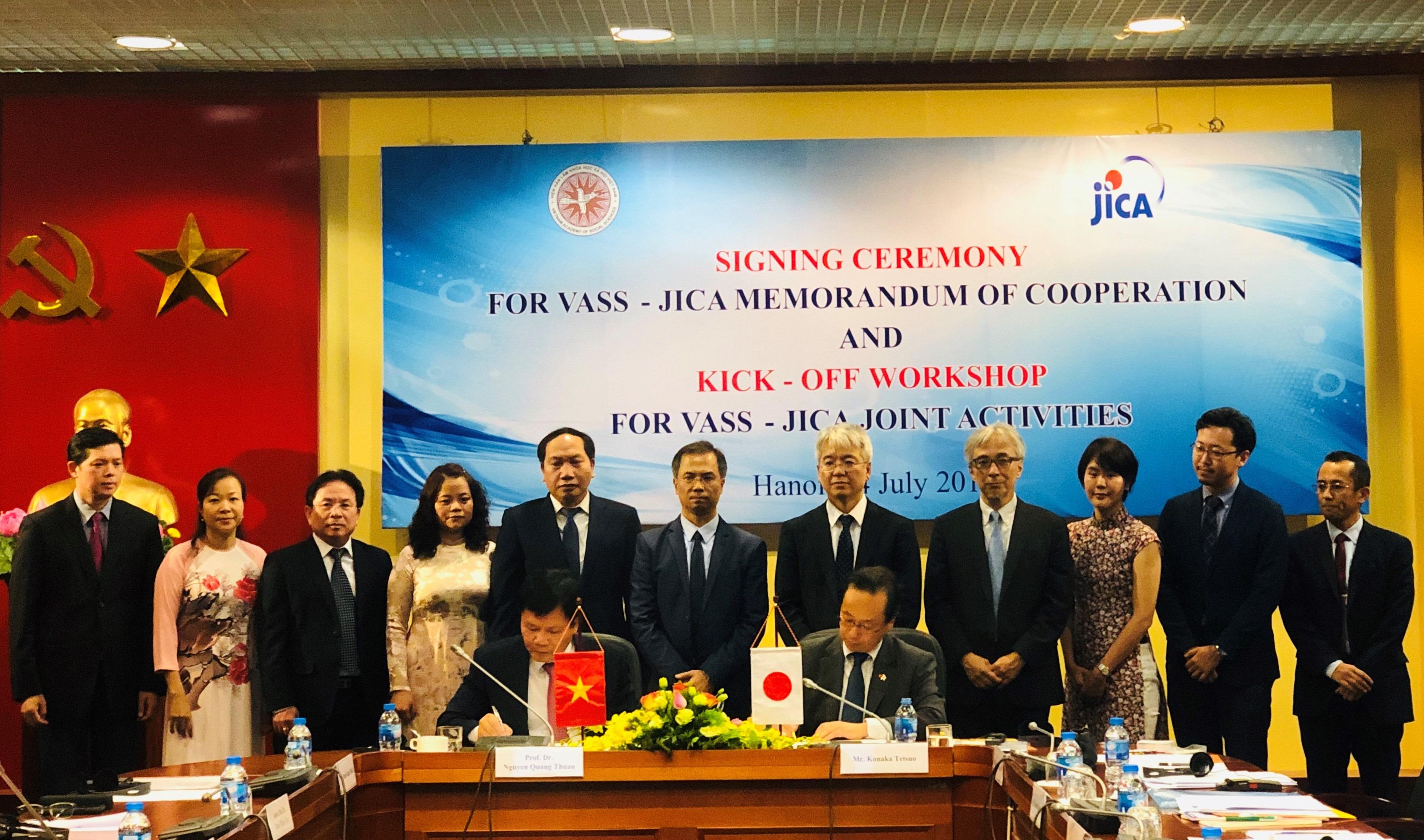 VASS - JICA comprehensive cooperation for Vietnam's development