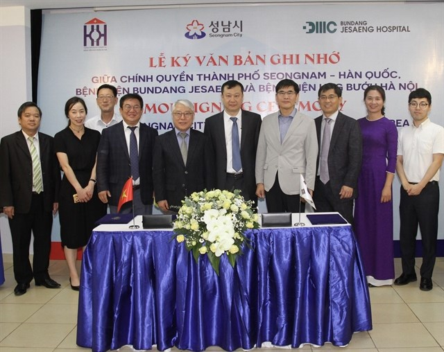 Hanoi Oncology Hospital signs deal with Korean partners