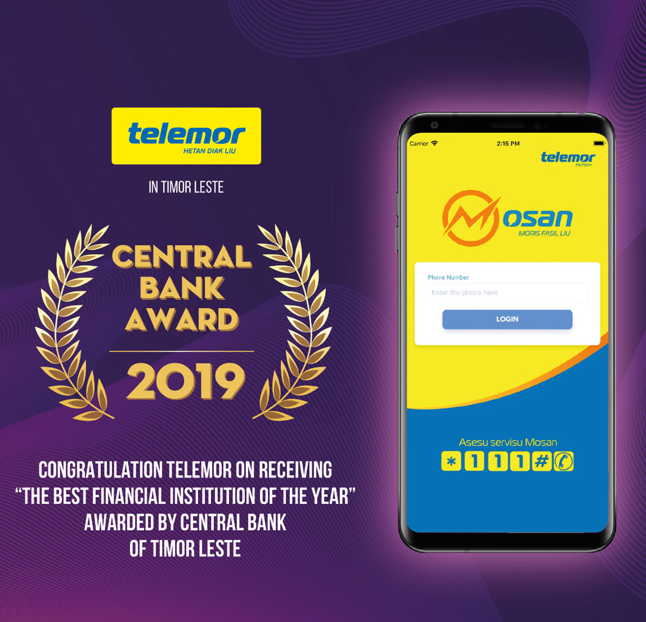 Mosan e-wallet wins grand prize from the Central Bank of Timor Leste