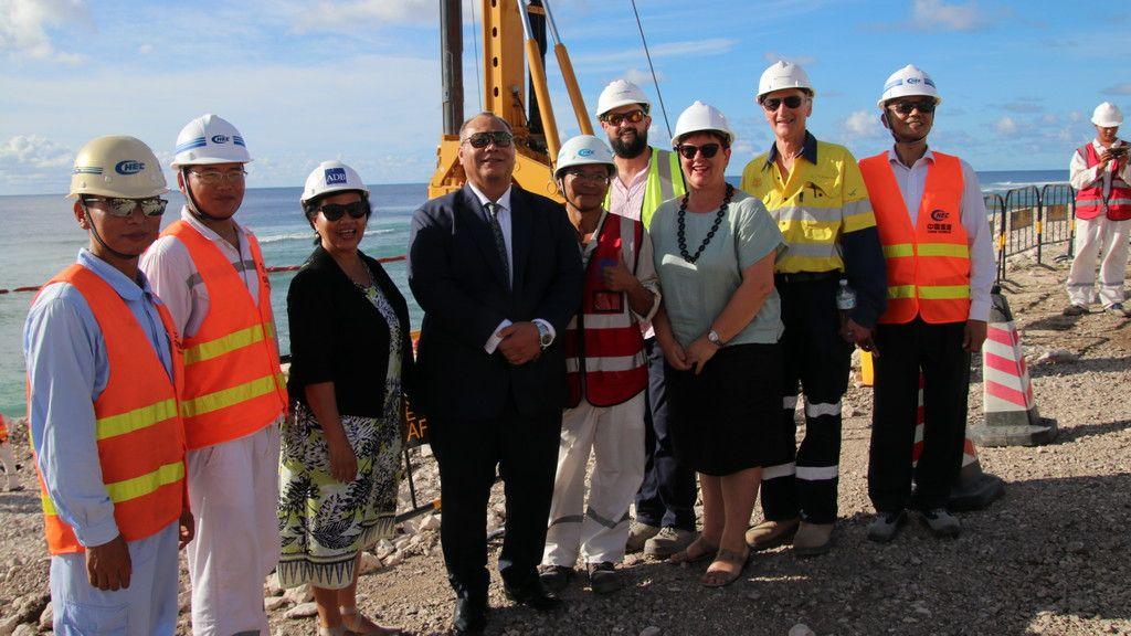 Nauru constructs first international port