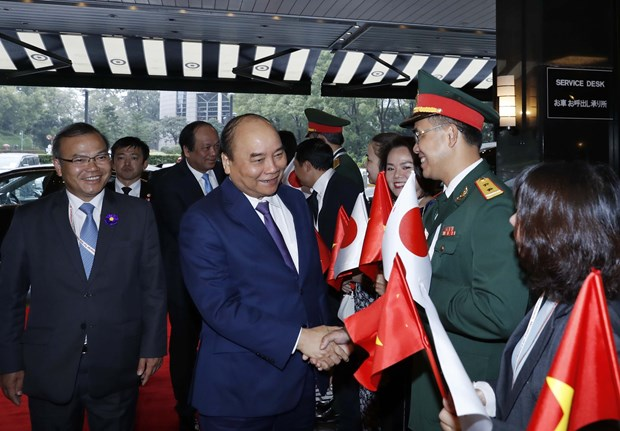 PM arrives in Tokyo for Japanese emperor's coronation ceremony