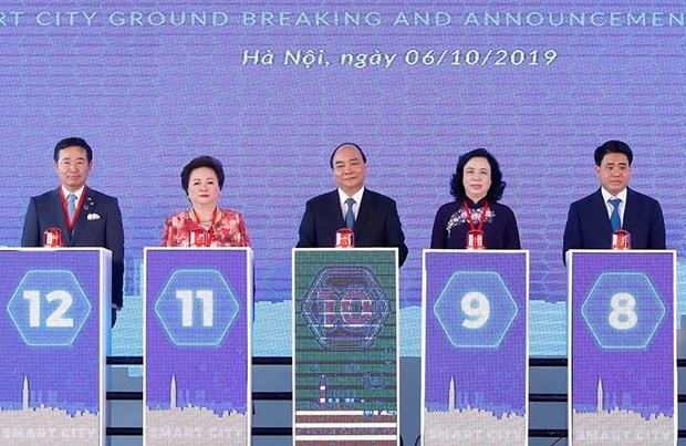 Groundbreaking ceremony for first smart city project in Hanoi
