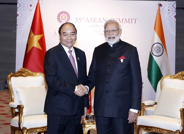 Vietnamese, Indian PMs meet in Thailand