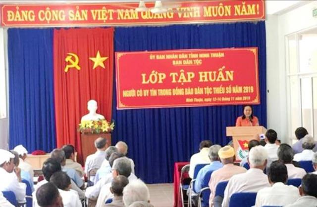 Promote prestigious people's role in ethnic-inhabited areas in Ninh Thuan