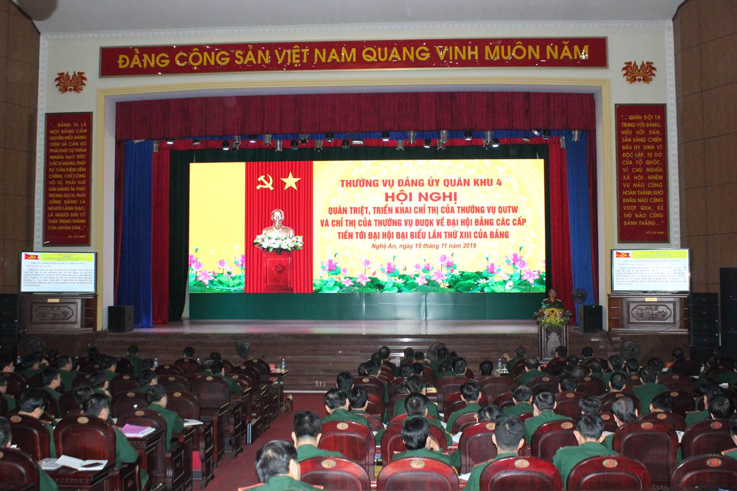 Preparation for Party Congresses at all levels in Military Region 4