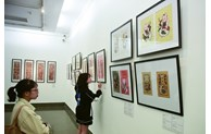 Traditional and contemporary Dong Ho folk paintings on display in Hanoi