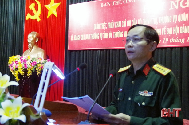 Ha Tinh Military Party Committee realizes Directives on Party Congresses at all levels