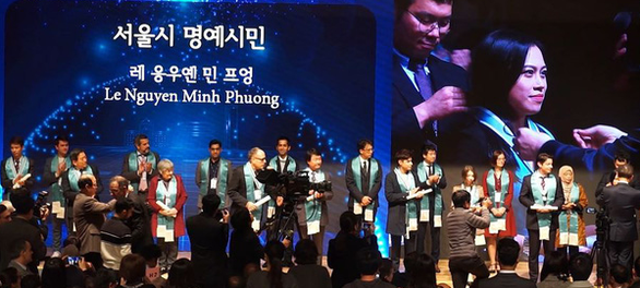 First Vietnamese person honored at Seoul Honorary Citizenship Ceremony 2019