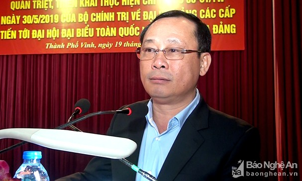Vinh city thoroughly grasps Directive on Party Congresses at all levels