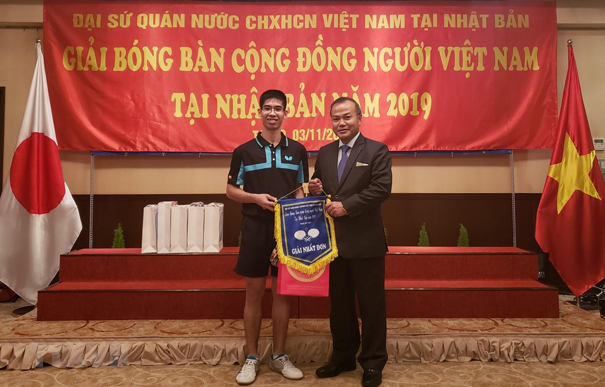 First table tennis tournament of Vietnamese community held in Japan