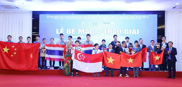 Vietnam students win 15 golds at IMSO 2019