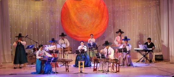Korean and Vietnamese folk music performance in Ho Chi Minh city