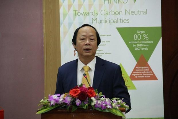 Finland helps Vietnam build carbon neutral municipalities