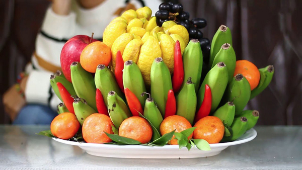 Five - fruit tray reveals Vietnamese wishes for New Year