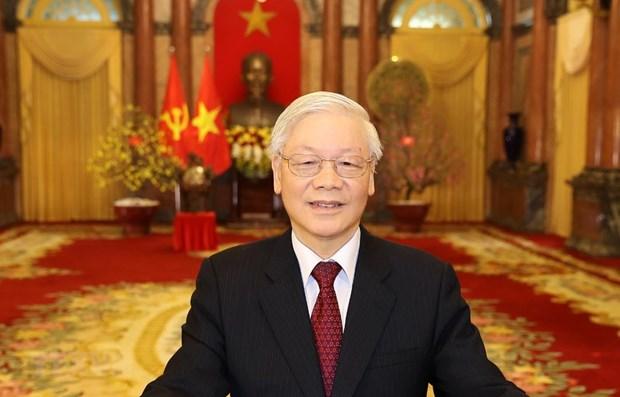 Leaders of Vietnam, Russia exchange congratulations on diplomatic ties