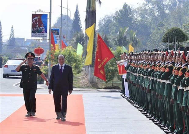 PM inspects combat readiness at Army Officer Training College 2