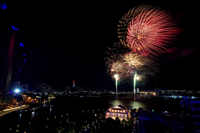 Fireworks display at seven venues in HCM city