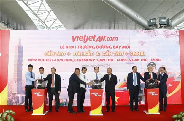 Vietjet Air launches new routes linking Can Tho with Taiwan, RoK