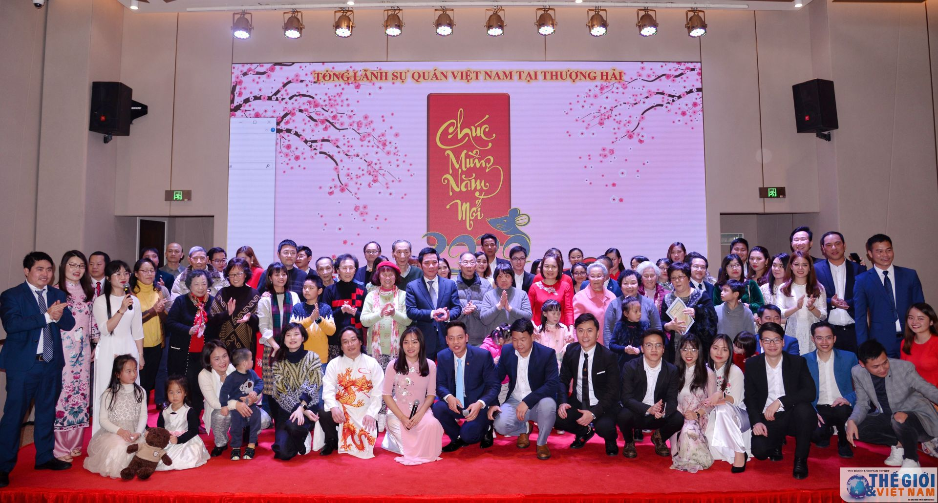 Overseas Vietnamese in China's Shanghai city jubilantly welcome New Year