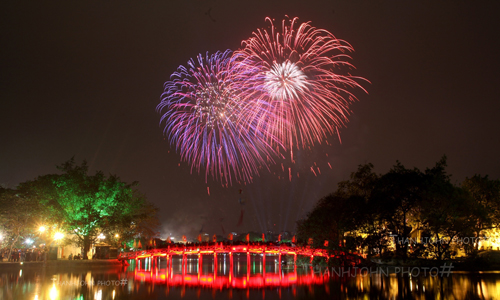 Hanoi to display fireworks in 30 locations to welcome Lunar New Year of Rat
