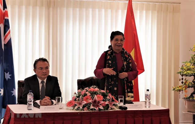 Legislative leader meets Vietnamese community in Australia