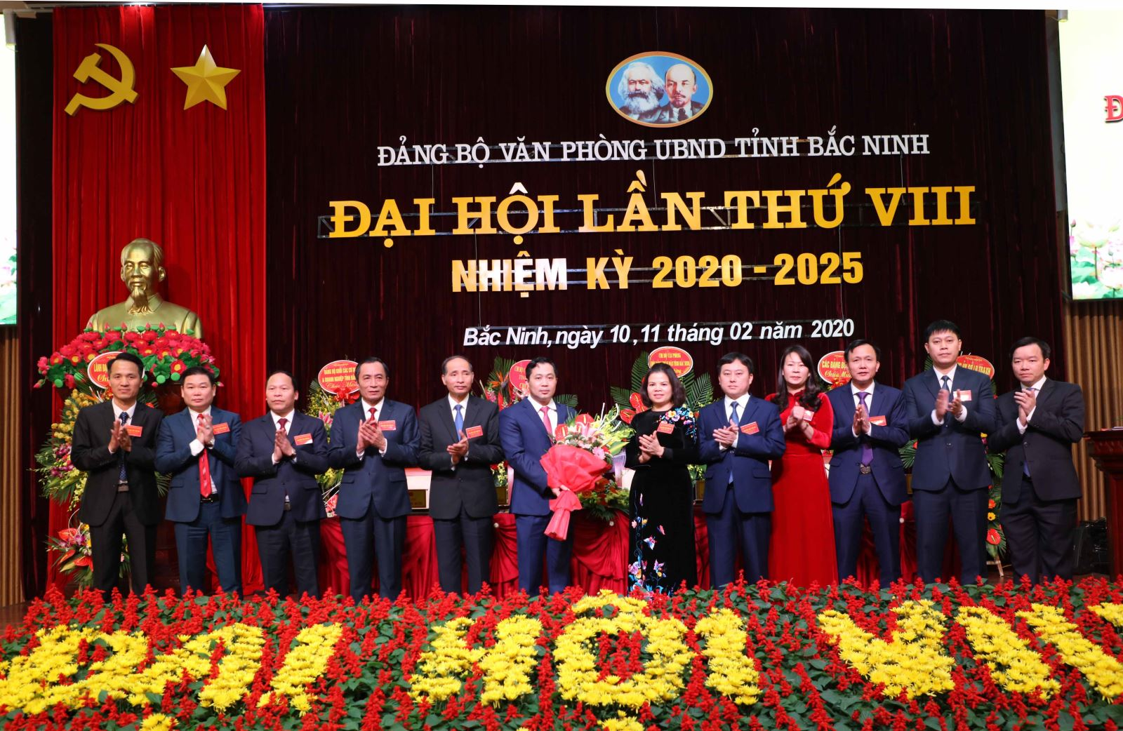 Bac Ninh provincial People's Committee Office Party Congress chosen as model congress