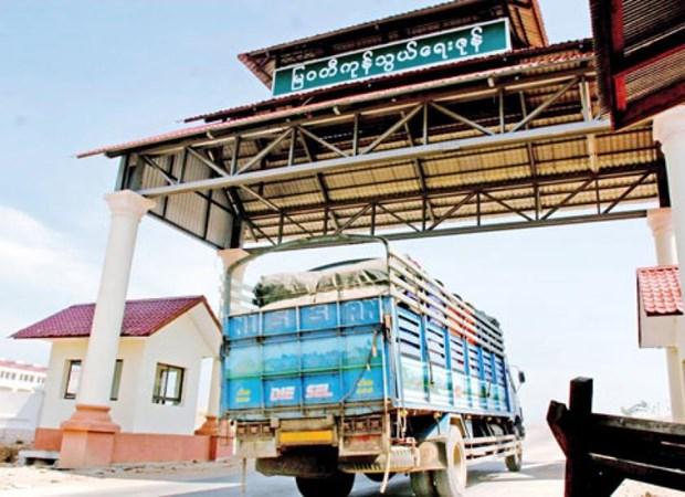 Myanmar–Thailand border trade exceeds 1 billion USD