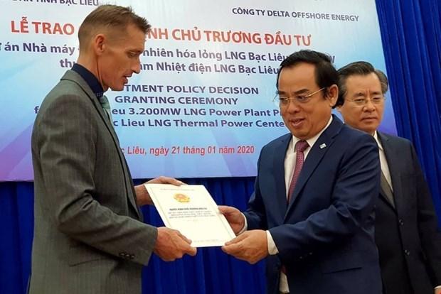 Bac Lieu hopes 4-billion-USD LNG project will attract more FDI