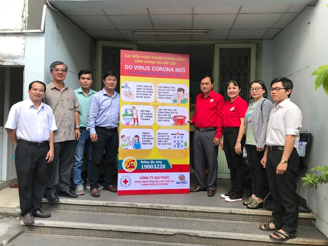Ho Chi Minh City Red Cross Society spends over 390 million VND for Covid-19 prevention and control