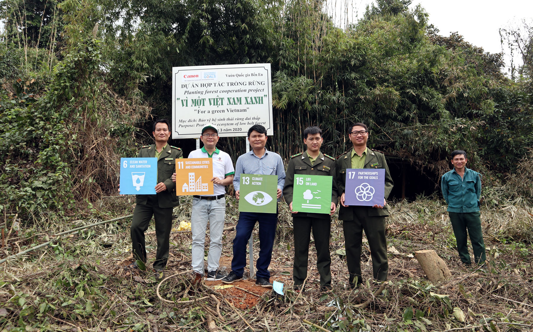 Canon Vietnam joins hands for sustainable environment