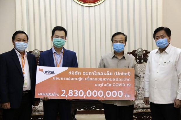 Vietnamese companies assist Laos' efforts in COVID-19 fight