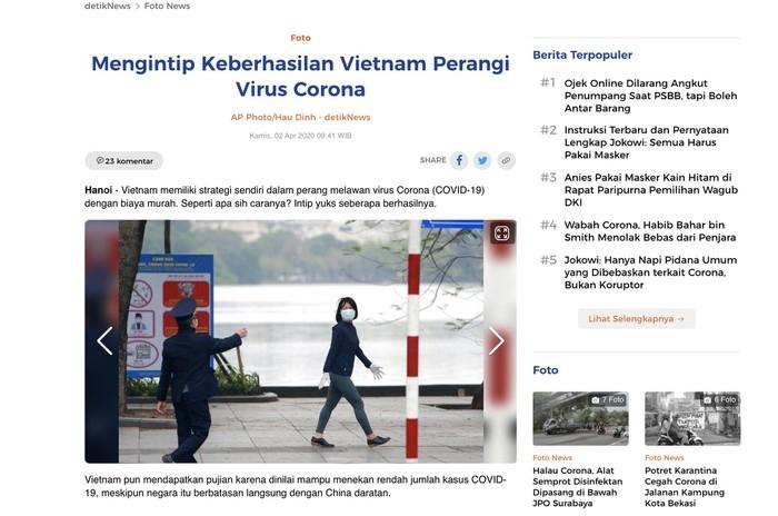 Indonesian communications praises Vietnam's prevention of COVID-19 spread