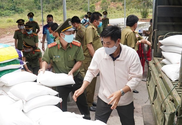 Medical supplies presented to Lao security departments