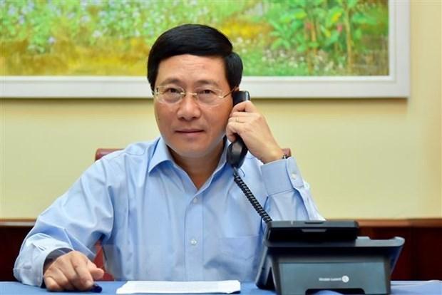 Deputy PM holds phone talks with Estonian FM