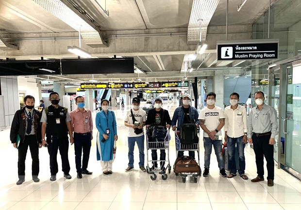 Seven Vietnamese citizens stuck in Thailand brought home